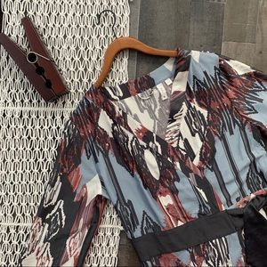 Anthro Eloise Kimono Style Wrap Dress M/L